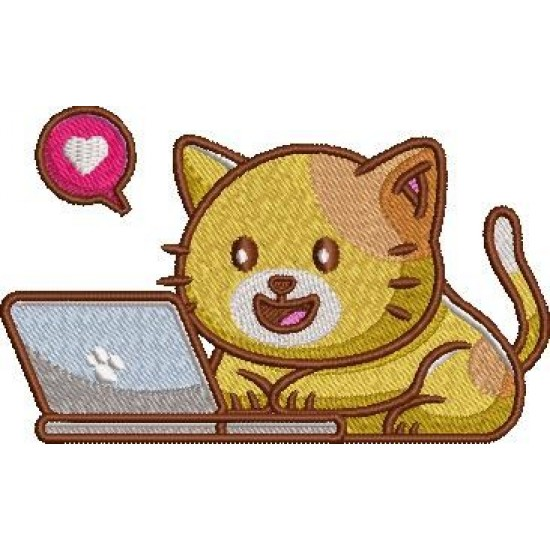 Cat Playing With Laptop