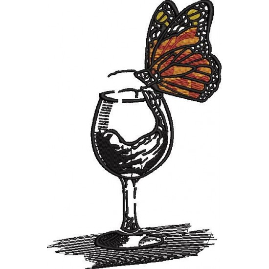 Butterfly Sitting On A Glass