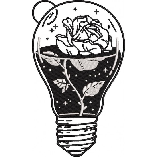 Rose In The Bulb