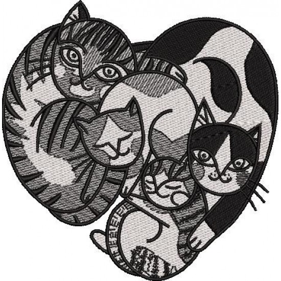 Cat Embroidery Pattern