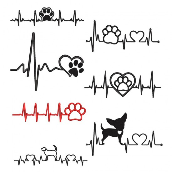 Dog & Paw Heart Beat Collection