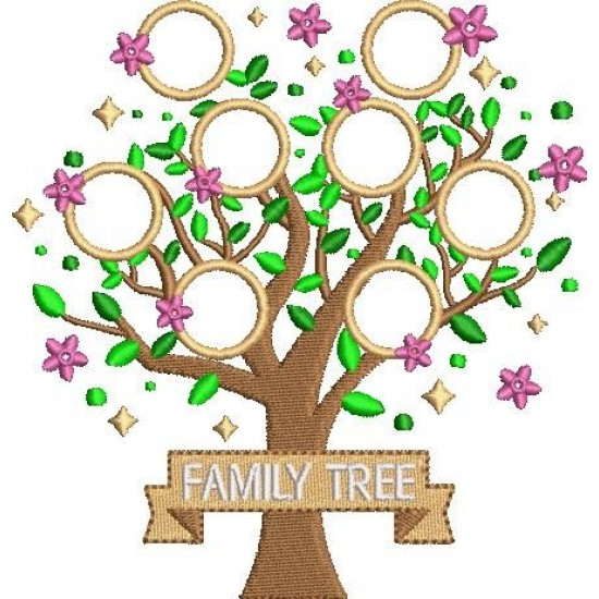 Family Tree with Name Applique