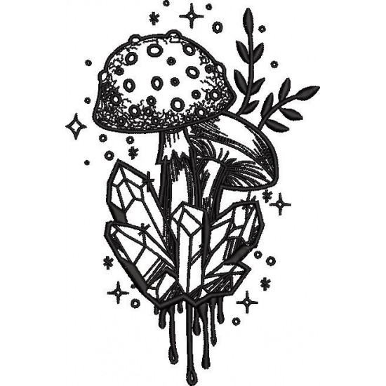 Mushrooms With Crystal