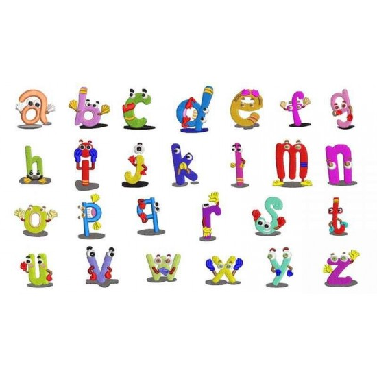 A to Z Small Alphabets