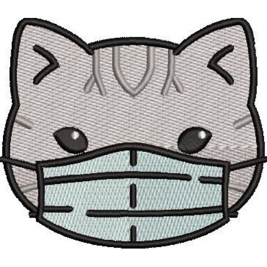 Gray Cat With Mask