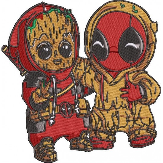 Groot and Deadpool