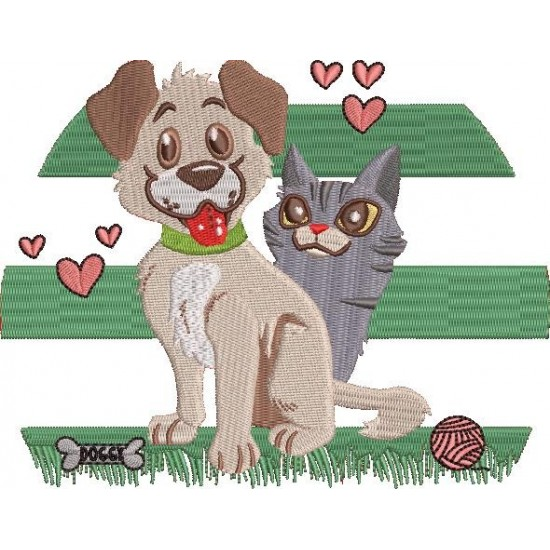 Cat In Love With Dog