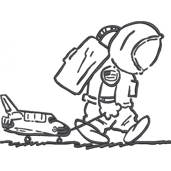 Baby Astronaut with Toy Aircraft