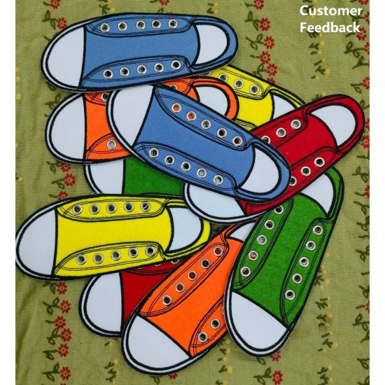 Shoe Lace Applique For Kids Learning