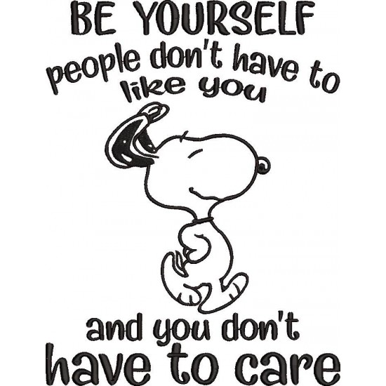 Be yourself Snoopy Quote