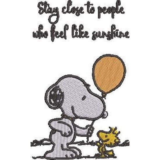 Stay Close To People Snoopy Quote