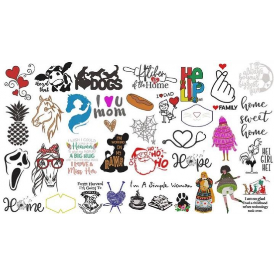 Digital Mystery Pack   650+ Embroidery Patterns   1.3 GB File Size
