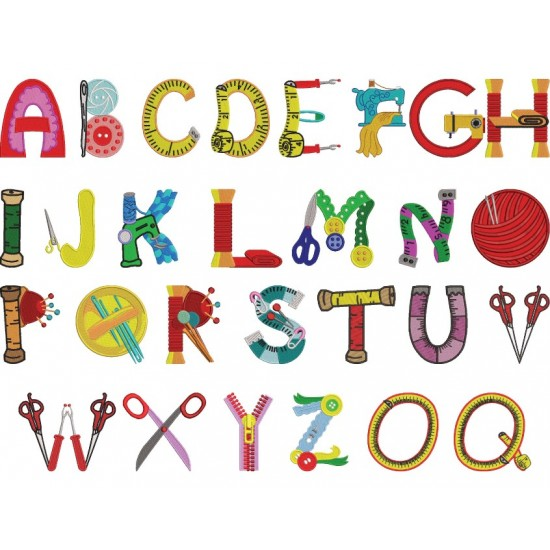 Sewing Alphabets A to Z