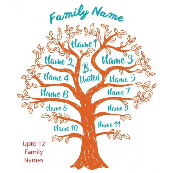 Family Tree With Your Own Family Names