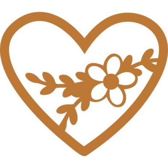 Flower In Heart Vector Only