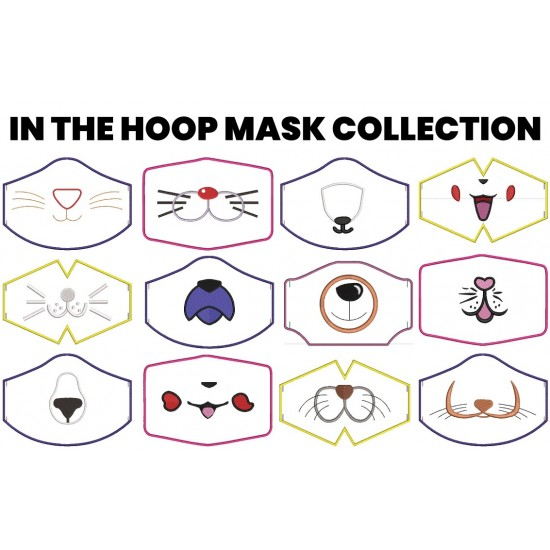 In The Hoop Mask Collection - 12 Mask