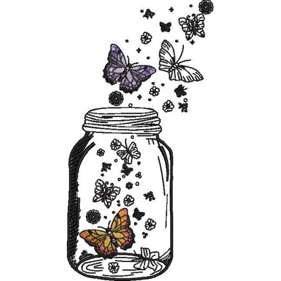 Butterflies In Jar