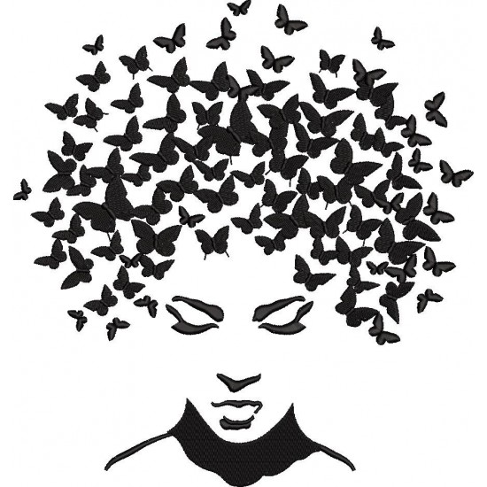 Face With Butterflies Head