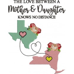 Mother and Daughter Love - Custom Digitizing