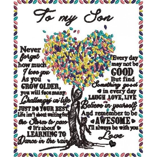 To My Son Embroidery