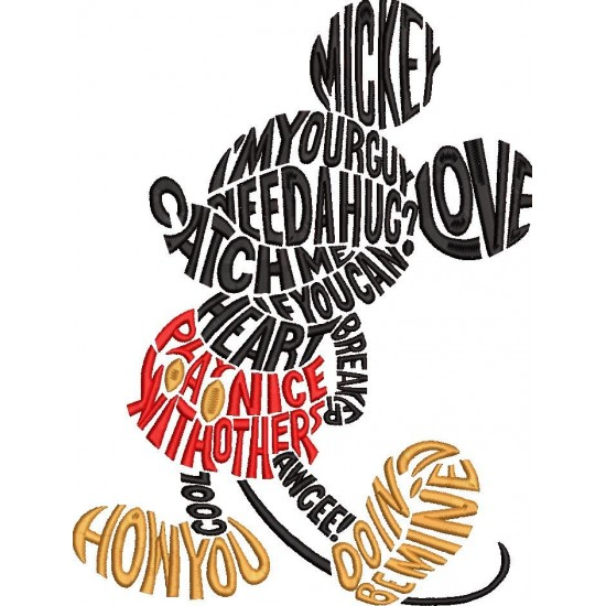 Mickey Mouse WordArt