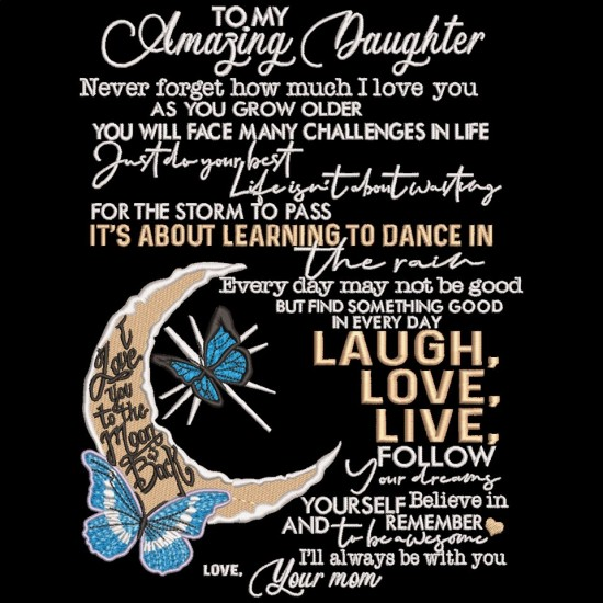 To My Amazing Daughter