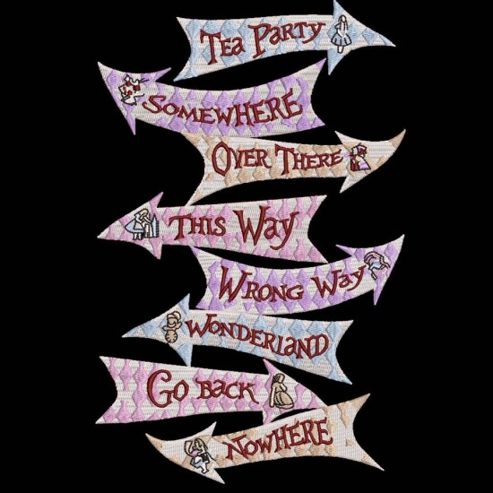 Alice In Wonderland Direction Signs