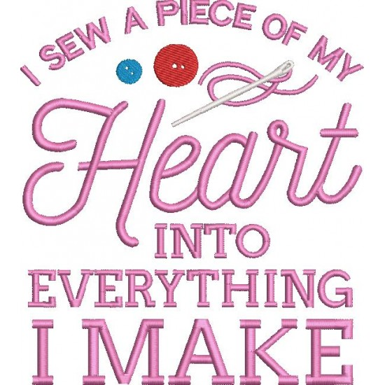 I Sew a Piece of My Heart