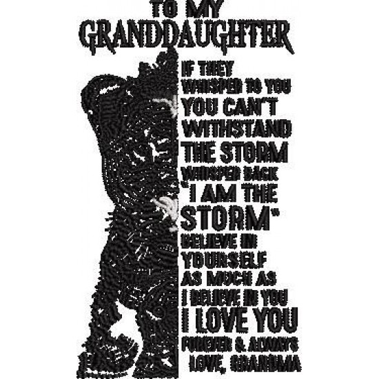 To My Grand Daughter