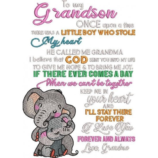 To My Grandson Once Upon A Time