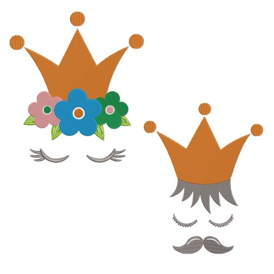 King And Queen Crown Design