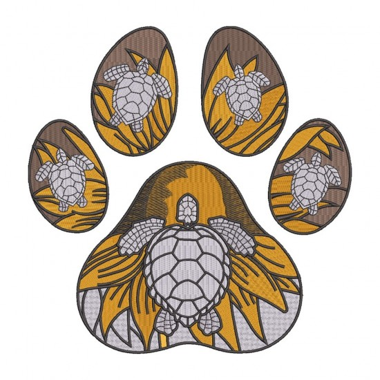 Dog Paw And Turtles