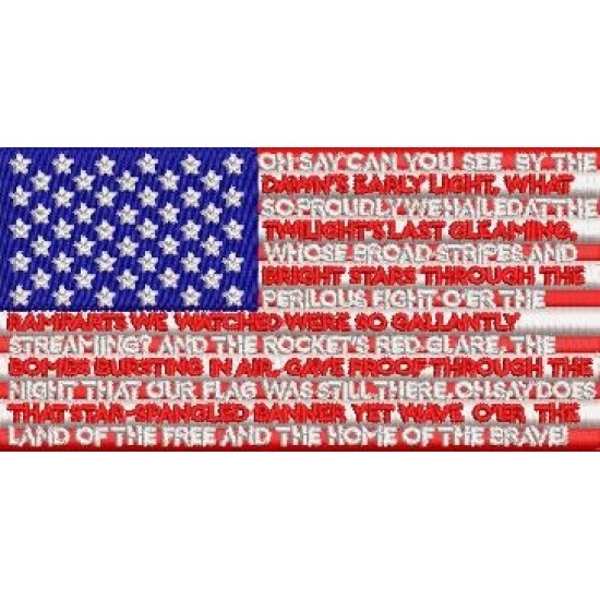 USA Flag with National Anthem