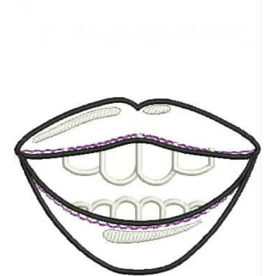 Smile Mask Full Applique