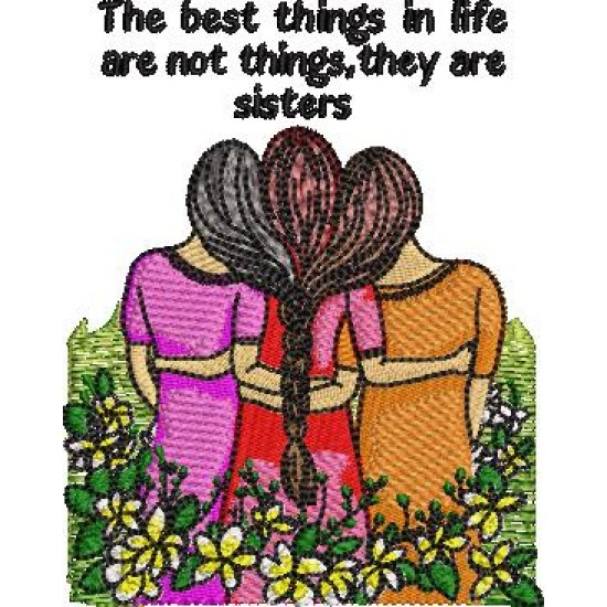 3 Sisters Embroidery Pattern