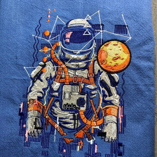 Astronaut Embroidery Pattern