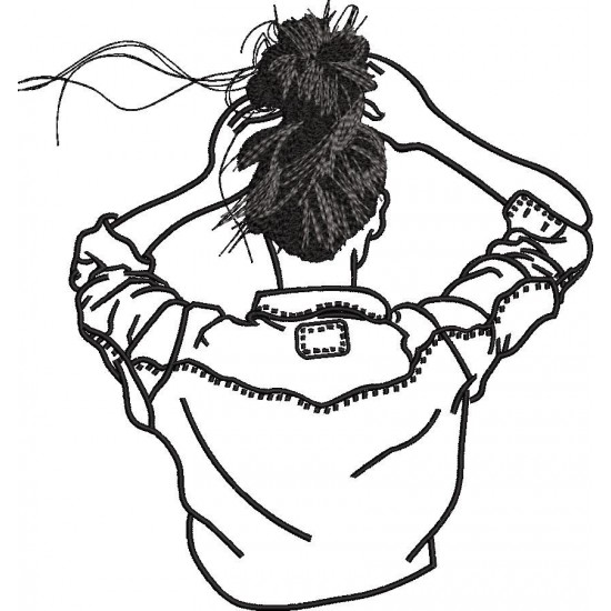 Girl Embroidery Design