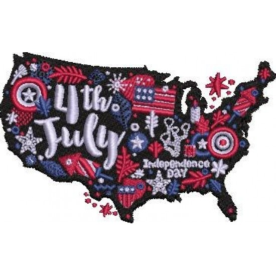 Independence Day USA Map