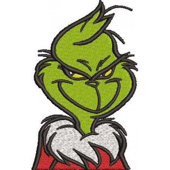 Grinch Embroidery Pattern