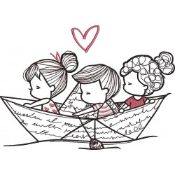 Boat Embroidery Pattern