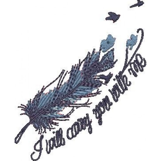 I Will Embroidery Pattern