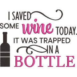 I Saved Trapped Wine